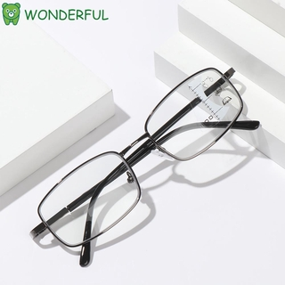 WONDERFUL Anti-fatigue Anti Blue Light Reading Glasses Anti-UV Computer Goggles Progressive Presbyopic Eyeglasses Men Women Fashion Anti-blue Rays Retro Classic Radiation Protection Multifocal Bifocal Eyewear/Multicolor