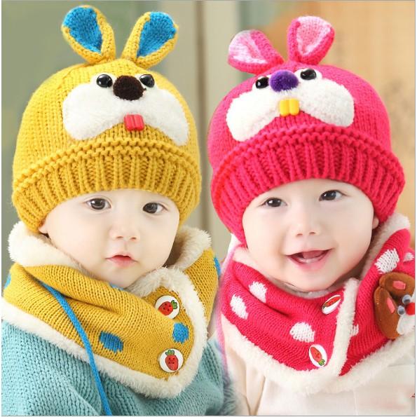 Mũ len kèm khăn ấm hình thỏ cho bé - 2927455 , 632890310 , 322_632890310 , 55000 , Mu-len-kem-khan-am-hinh-tho-cho-be-322_632890310 , shopee.vn , Mũ len kèm khăn ấm hình thỏ cho bé