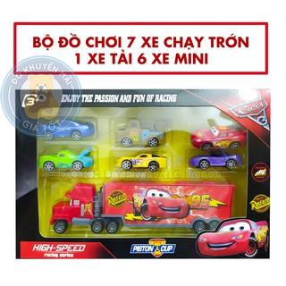 Đồ chơi xe cho bé gồm: 1 xe tải và 6 xe hơi chạy trớn – Đồ khuyến mãi giá tốt
