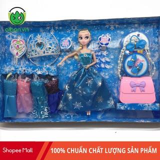 Búp Bê Elsa Kèm Ví + Vương Miện + Tủ váy + Phụ kiện (BB1899-1)