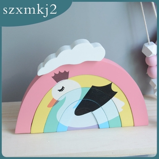 Cutest Wooden Stacking Blocks Nesting Education Toys for Baby Toddlers