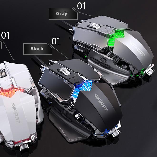 Chuột game chuyên nghiệp WFIRST 6D cao cấp Marvo Led RGB đổi màu - Thết kế hợp kim cực chất.