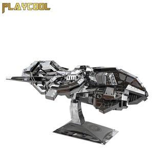 Đồ chơi mô hình lắp ráp kim loại MU Game Starcraft - Phi thuyền Thubderhawk Gunship - Bạc
