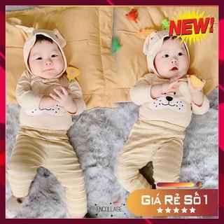 Bộ tai thỏ thu đông QUỐC DÂN bé trai bé gái MINKY MOM đồ bộ dài tay trẻ em kèm mũ nón 100% chất thun lạnh