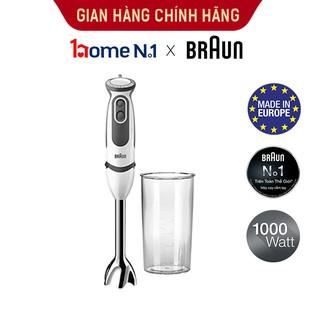 Máy xay cầm tay Braun MQ5200 Sản xuất 100% tại Châu Âu Số 1 thế giới, Công suất 1000w, chống văng độc quyền, xay nhanh