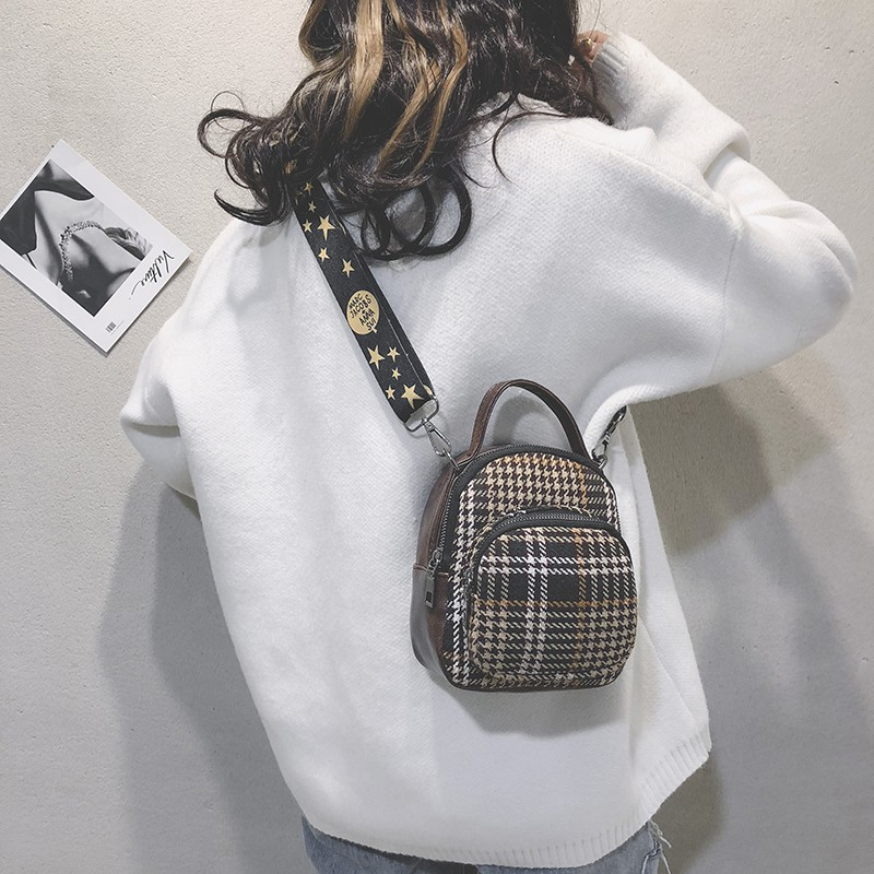 Woolen bag female 2018 new Korean version of the autumn and