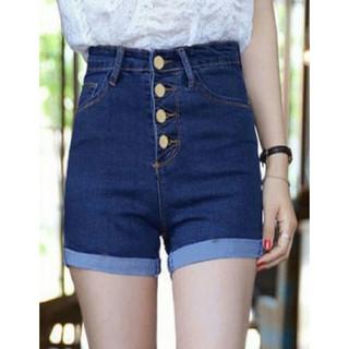 Quần Shorts Jeans Nữ Lưng Cao 4 Nút WM SHORTS 800017 LTN