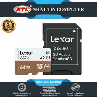 Thẻ Nhớ MicroSDXC Lexar Professional 667X V30 U3 4K A1 64GB R100MB/s W90MB/s (Vàng)
