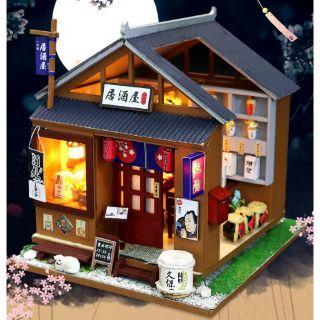 Mô hình nhà gỗ lắp ráp búp bê DIY – Kèm mica – M037 One of the Izakaya