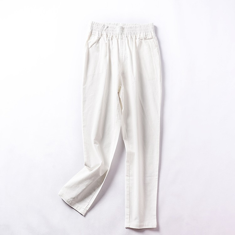 [Ice Point straight down / shipping] J@8 autumn loose high waist solid color str
