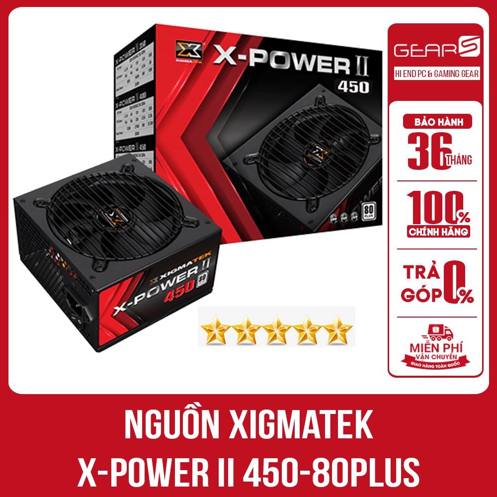 [Mã ELCL88 giảm 7% đơn 500K] Nguồn Xigmatek X-POWER II 450-80PLUS Hàng Mai Hoàng Bảo Hành 36 T