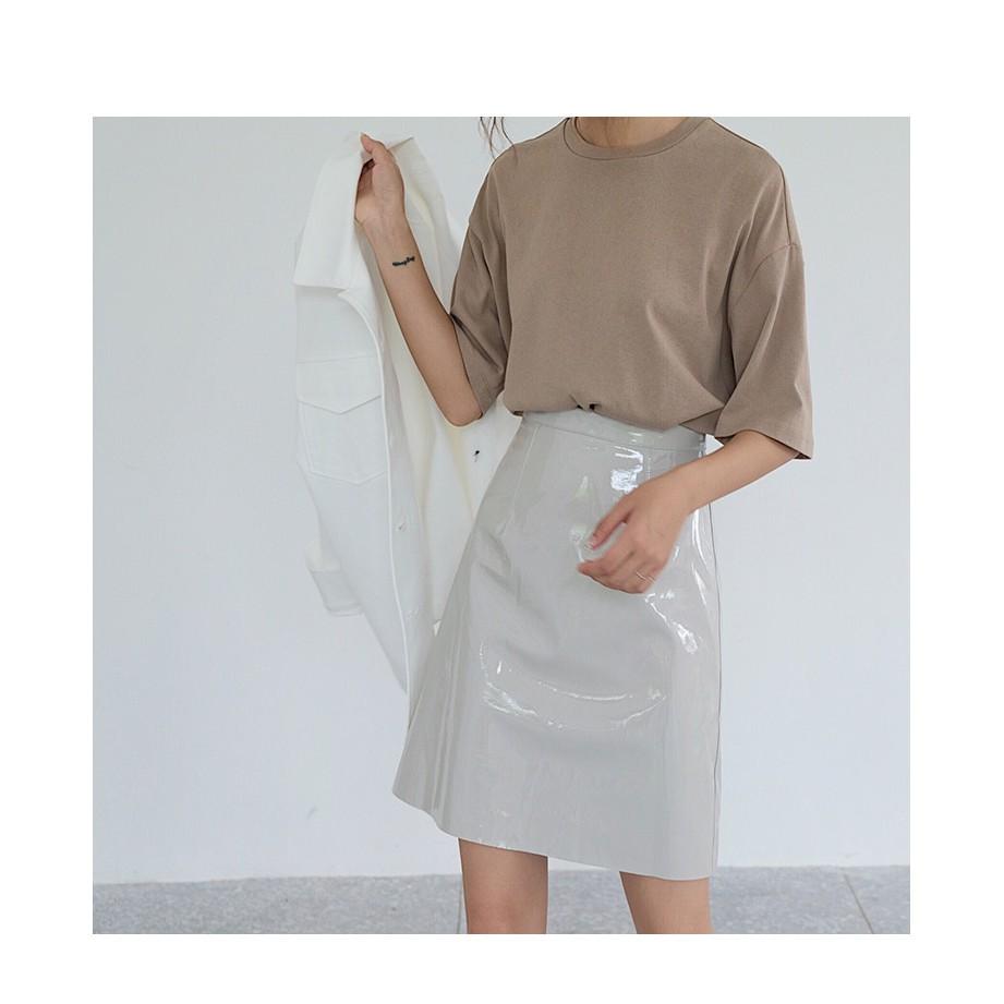 Chân Váy Da Ulzzang Chân Váy Ngắn Chữ A Thời Trang Kiểu Dáng Hàn Quốc - 83QS5006