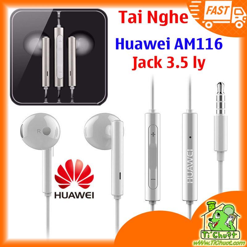 [Tặng Mút Bông] Tai Nghe Huawei AM116 jack 3.5mm ZIN Chính Hãng