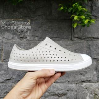 Giày nhựa đi mưa nam nữ WNC NATlVE - chất nhựa xốp siêu nhẹ, không thấm nước - Màu xám nhạt thumbnail