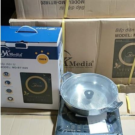 Bếp điện từ Media MD-BT1820 tặng kèm nồi, HÀNG CHÍNH HÃNG