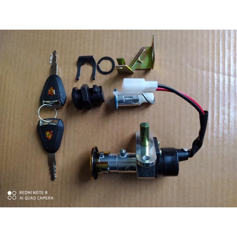 Bộ khóa xe điện Vespa ( bộ 3 khóa gồm khóa điện - khóa cốp - khóa bình )