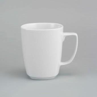Ly/Cốc uống nước văn phòng - Ca vuông sứ Jasmine trắng, Minh Long