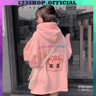 Áo hoodie Chống nắng Cho nam nữ và Cặp Đôi Có 4 Màu,Form rộng Unisex BANAWA có dây kéo Ulzzang kèm ảnh thật 123 SHOP