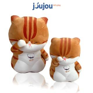 Mèo Bông - Gấu Bông Mèo Che Mắt Chất Nhung Mềm Mịn Cao Cấp JouJou thumbnail