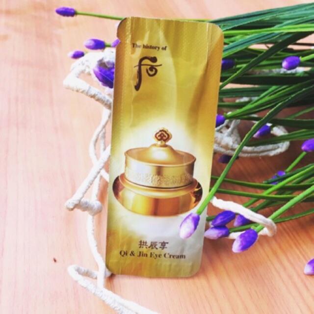 10 sample Kem dưỡng vùng mắt Whoo vàng Qi Jin Yang Eye Cream