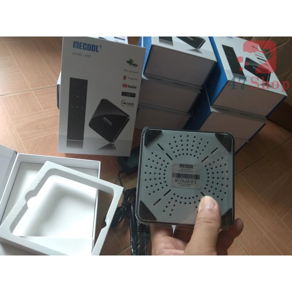 [Mã ELC2C400 hoàn 100K xu đơn 400K]Android TV Box Mecool KM3 - 4GB Ram, 64GB bộ nhớ trong - ATV 9 Chính Chủ Như Mibox