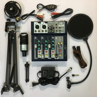 Trọn Bộ Mic Thu Âm Takstar PCK-320 + Mixer F4 Yamaha hát liver stream, hát karaoke gia đình