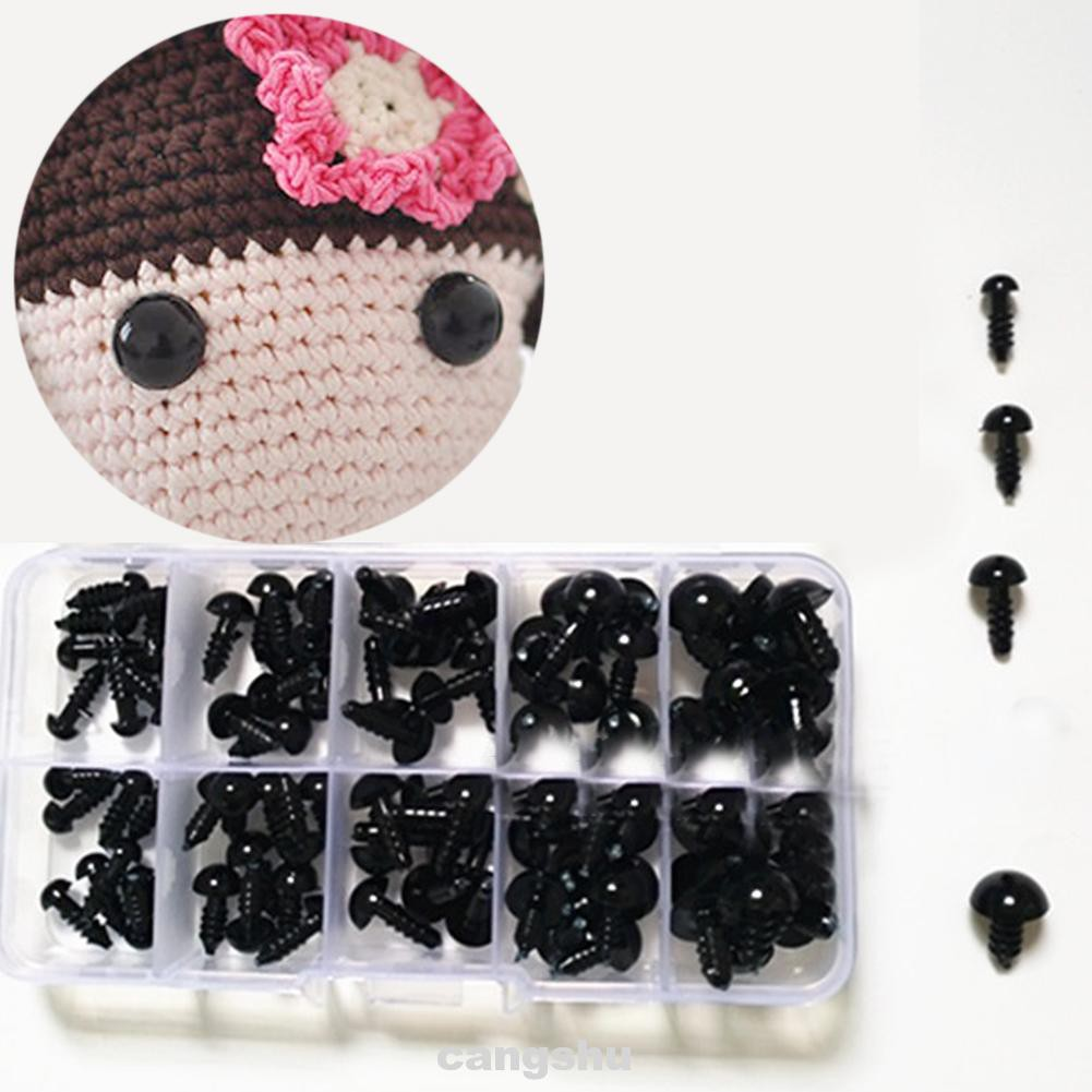 100pcs Eyes DIY Plastic Toy Accessories Crafts Eco-friendly Safety Set With Washer