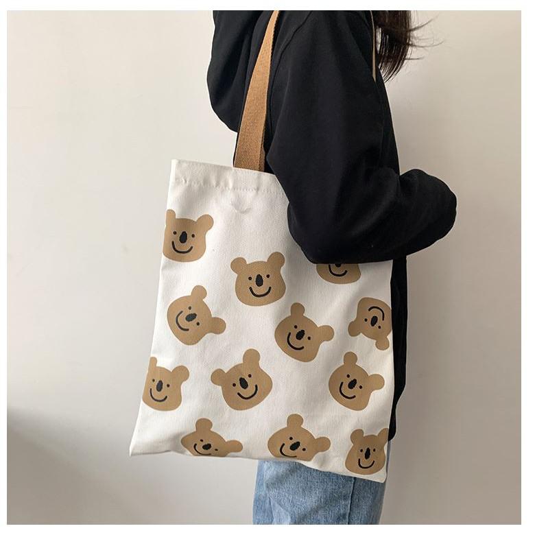 Túi canvas đeo chéo cỡ lớn thời trang cho nữ La Cà Shop