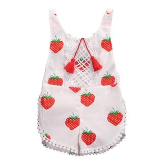 Bộ áo liền quần tay dài in hoạt hình dễ thương cho trẻ sơ sinh