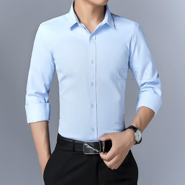 Sơ mi nam dài tay Hàn Quốc body chống nhăn