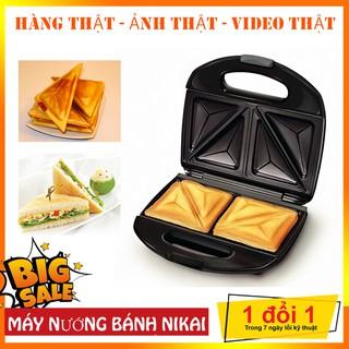 Máy nướng bánh mỳ sandwich Nikai Nhật Chính Hãng 💥BẢO HÀNH 12 THÁNG💥
