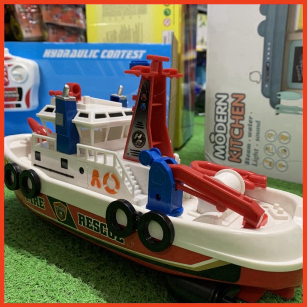 Đồ chơi bé trai tàu cứu hỏa điều khiển chạy trên nước vòi xịt nước do choi cao cap