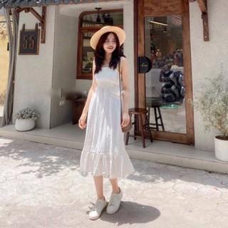 Váy trắng maxi