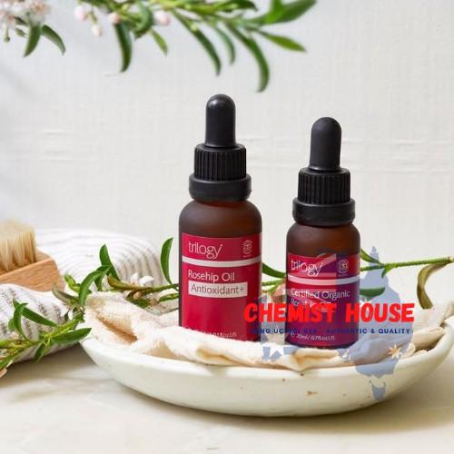 [Hàng Chuẩn ÚC]  Trilogy Rosehip Oil Antioxidant - Tinh dầu nụ tầm xuân chống lão hoá SÁNG ĐỀU DA 30ml