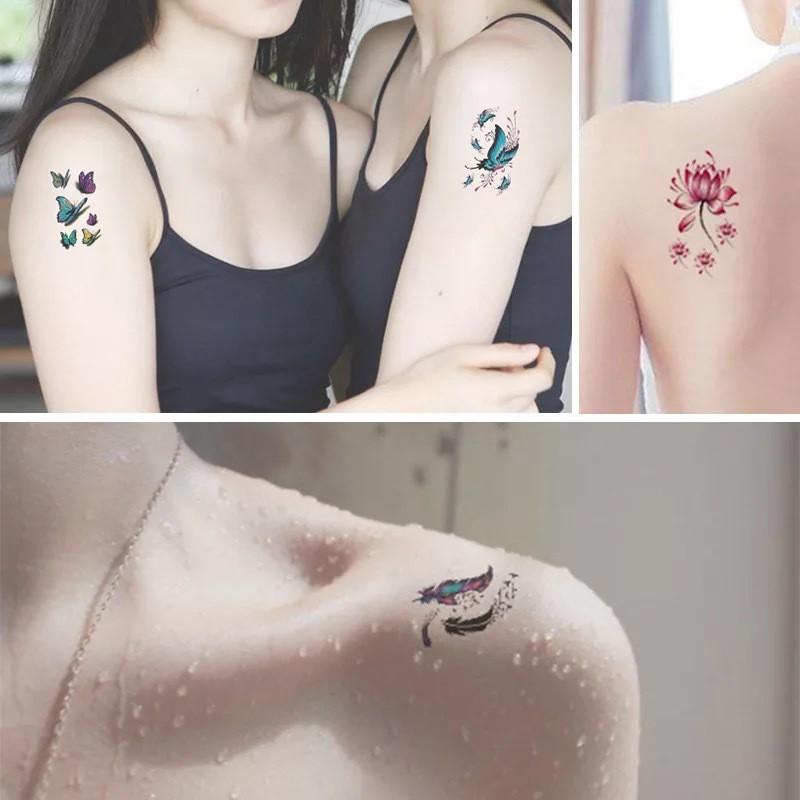 Combo 30 Tấm Hình Xăm Dán Flash Tattoo Tha Thu Từ 55 - 120 Mẫu Chống Thấm Nước