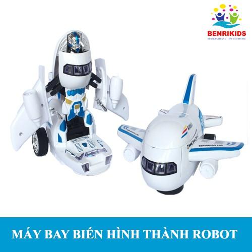 Máy Bay Biến Hình Thành Robot Phát Nhạc Vui Nhộn Cho Bé