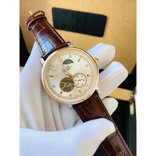 (Rolex Automatic) Đồng hồ Nam Rolex cơ, lộ máy, kính chống xước, lên cót tự động, bảo hành 12 tháng thumbnail