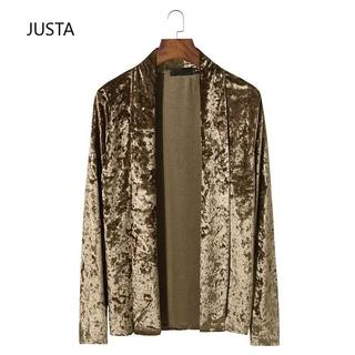 long sleeve cardigan basic men's Fashion Lapel Cape