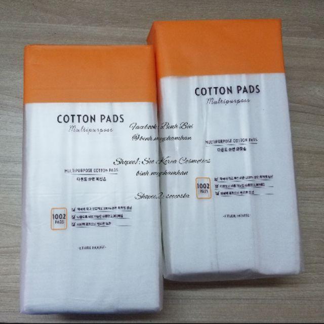 [NHẬP FSSDEC5 HOÀN 20K NGÀY 5/12/19][AUTH] Bông tẩy trang Etude House cotton pads 1002 miếng