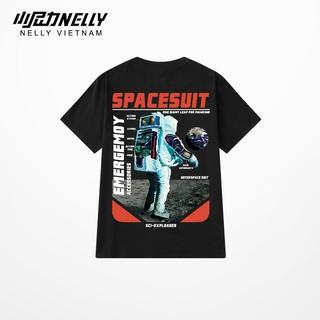 [Mã FASHIONGREEN94 giảm tới 30K đơn 99K] Áo phông unisex NELLY dáng rộng tay lỡ in hình space suit N0177 thumbnail