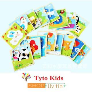 [Mã TOYDEC hoàn 20K xu đơn 50K] XẢ HÀNG - MUA 2 TẶNG 1- BN22 - Đồ chơi tranh gỗ ghép hình có núm cầm cho bé thumbnail