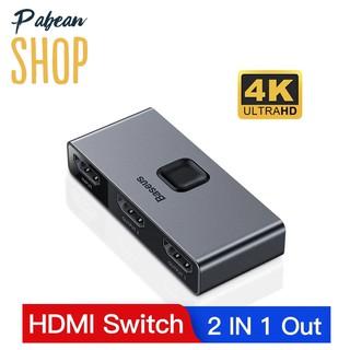 [Mã ELFLASH5 giảm 20K đơn 50K] Thiết bị chia Cổng HDMI 2 chiều hỗ trợ 4K ULTRAHD chính hãng BASEUS Matrix HDMI Switcher