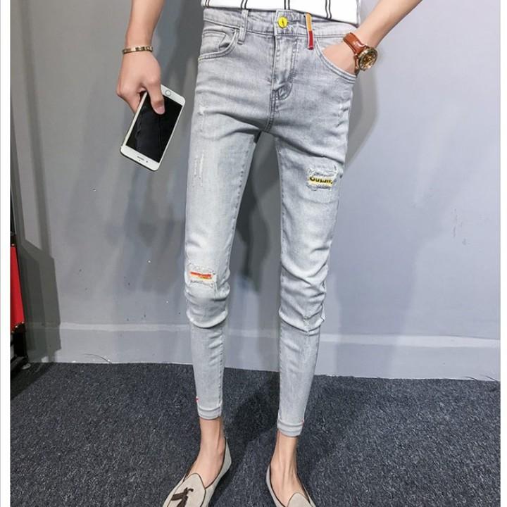 quần jean ống côn rách Mã: ND1463