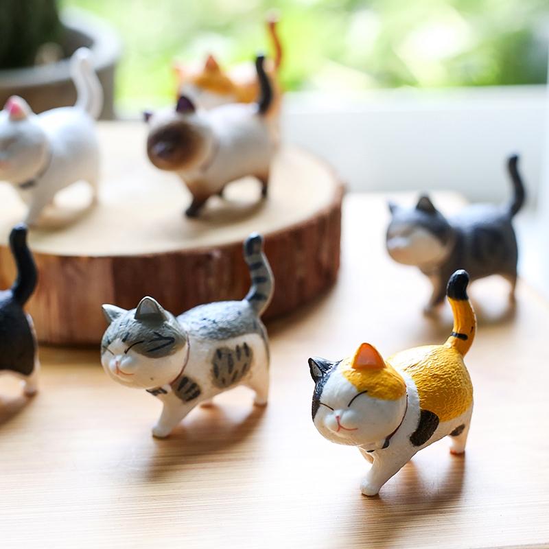 Mô hình mèo cưng thu nhỏ dùng trang trí tiểu cảnh đẹp mắt