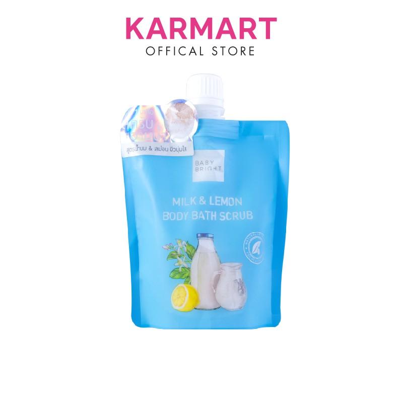 Muối Tẩy Da Chết Toàn Thân Sữa Bò Và Chanh Baby Bright Milk And Lemon Body Bath Scrub 250g