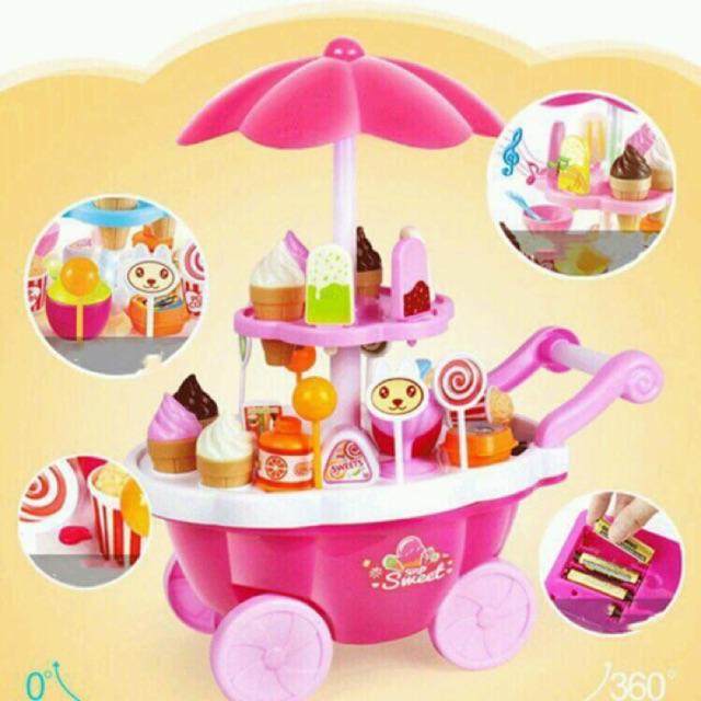 xe đẩy kem có nhạc cho bé (khomuare)