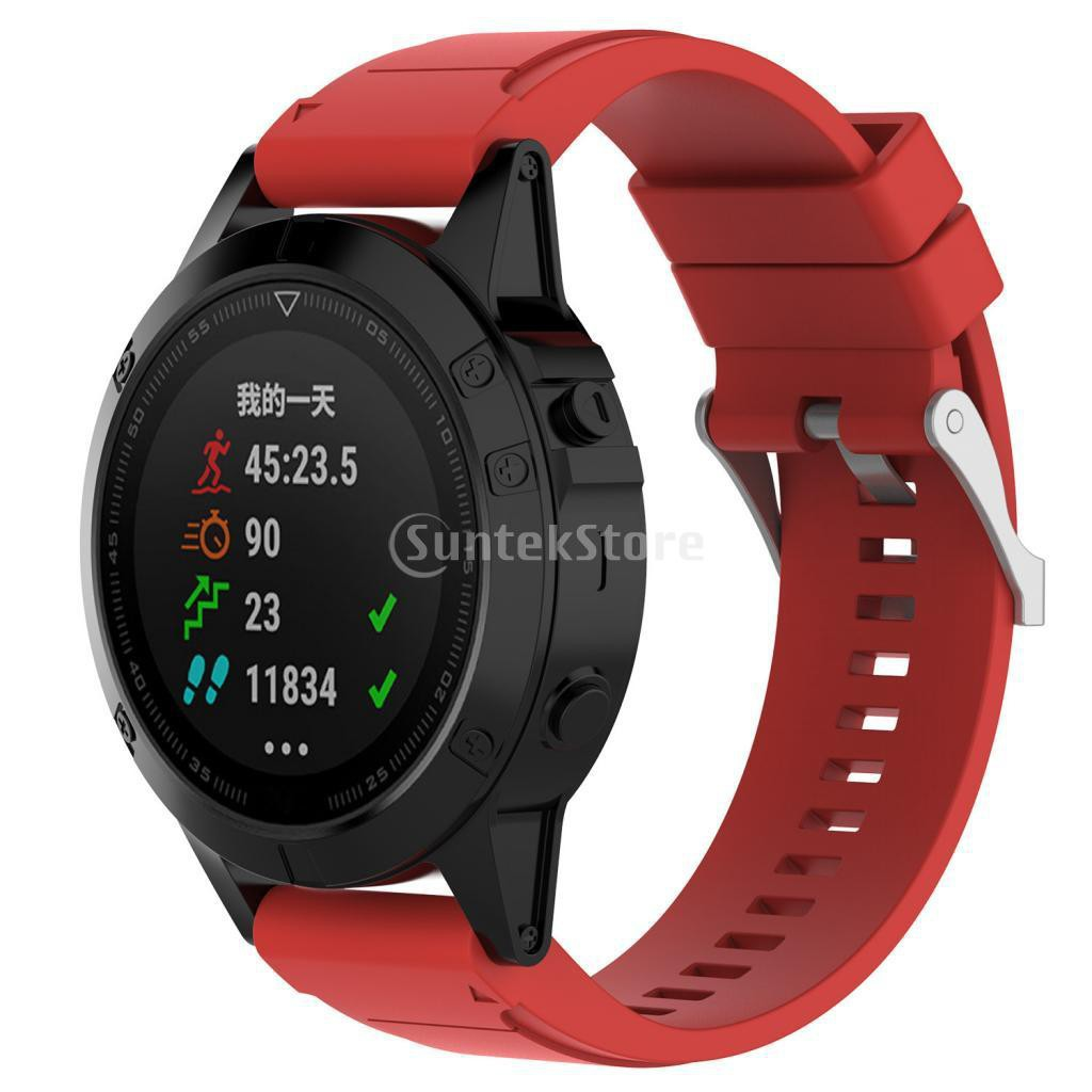 Soft Silicone Sport Band 20mm Watch Strap Belt for Garmin Fenix5S