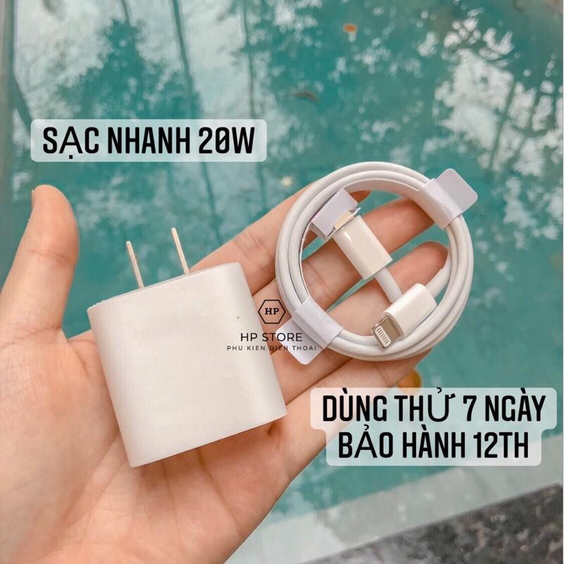 Bộ Sạc Nhanh Iphone 20W [ Bh 12 Tháng ], Dây Sạc Nhanh Iphone Type-C To Lightning Phù Hợp Với Máy 8/8P/X/XS/11/11Pro