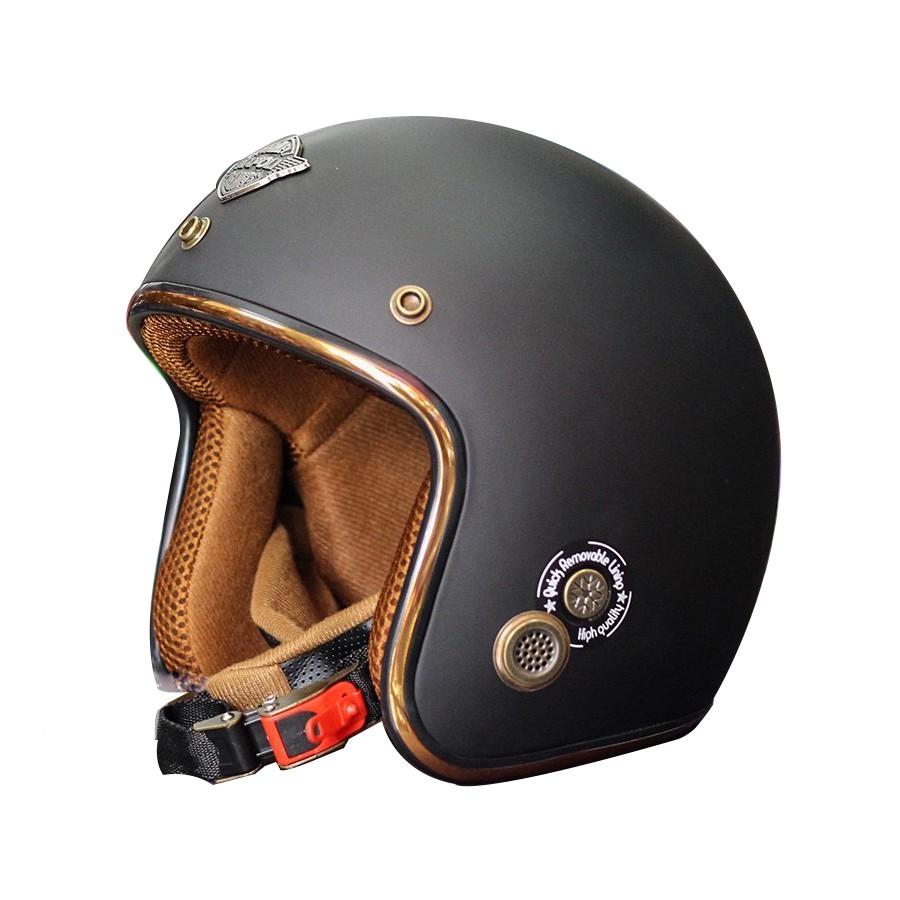 Mũ bảo hiểm 3/4 Napoli Sh2 Ruby New Size Đầu 55-58 Cm Tem Kiểm Định Quatest - Bảo Hành 12 Tháng