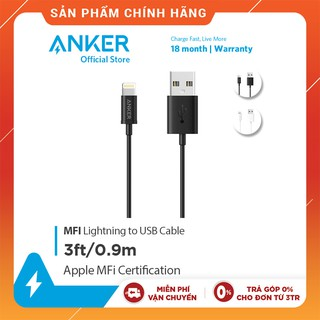Cáp sạc ANKER MFI Lightning dài 0.9m dành cho iPhone - A7101